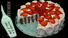 Reteta de tort cu capsuni si blat spiralat retete de tort Adygio. Romanian Desserts, Cake Recipes, Strawberry, Sweets, Cheese, Fruit, Mai, Youtube, Food