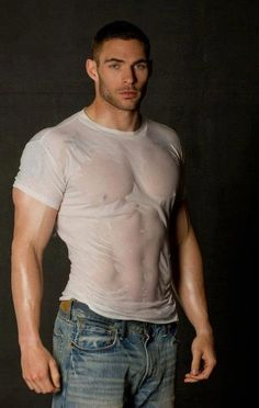 Wet t-shirt ~ Beautiful Men Hot Men, Hot Guys, Sexy Men, Sexy Guys, Bodybuilder, Wet Tshirt Contest, Fitness Models, Fitness Men, Le Male