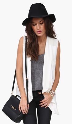 White Corp Vest by Necessary Clothing