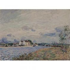 The Embankments of the Loing at Saint-Mammes - Alfred Sisley - The Athenaeum
