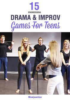 Here is an exhaustive list of improv and drama games for teens that will help to improve concentration, facial expression and modulation of voice. Drama Activities, Drama Games, Activities For Teens, Games For Teens, Improv Games For Kids, Physical Activities, Theatre Games, Drama Theatre, Teaching Theatre