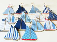 paper sailboat garland nautical them paper by cozyhomebytj on Etsy