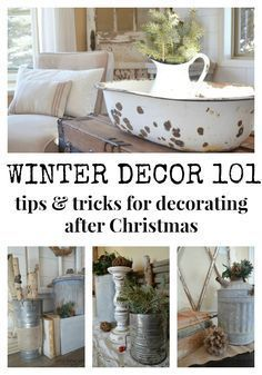 Simple Winter Decorating Tips & Tricks. Tips for Decorating your Home after Christmas. #christmastips&tricks
