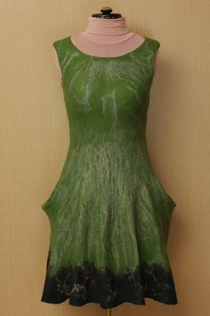 Inimitable Frida / Felted Clothing Dress by LybaV on Etsy, $300.00