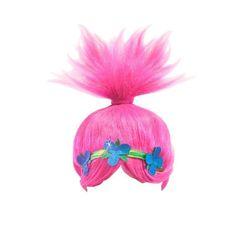 Disney 26x32cm Kids Trolls Funny POPPY WIG Pink Costume Cosplay Doll Party Trolls Props Toys for Children