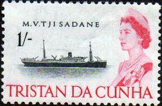 Tristan Da Cunha 1965 SG 80 Ship MV Tjisada80 Fine Mint SG 80 Scott 80 Other British Commonwealth Empire and Colonial stamps for sale Here