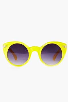 Neon Circle Shades - Yellow $40 @ NASTY GAL
