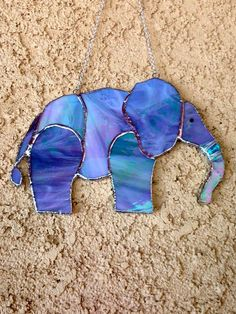 Stained Glass Elephant by NobleGlasses on Etsy #StainedGlasses