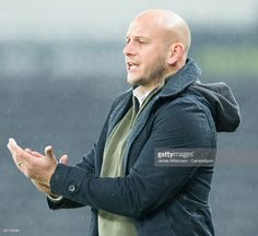 Adam Murray manager of Mansfield Town during the Checkatrade Trophy Southern E Group match between Derby County County and Mansfield Town at iiPro Stadium on November 2016 in Derby, England. Derby County, November 8, Southern, Bomber Jacket, England, Mens Fashion, Group, Moda Masculina, Fashion For Men