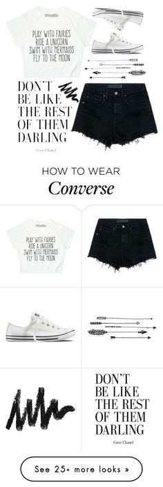 """Uniquely You"" by addietay on Polyvore featuring Alexander Wang, Forever 21 and Converse"