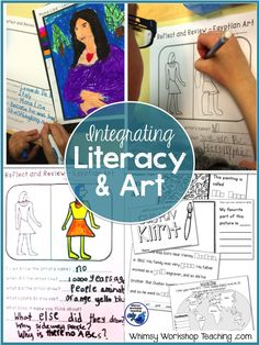 Fun and engaging ways to easily fit art into your curriculum by integrating it with literacy, science, social students and history. Complete sets with read-aloud scripts for teachers and writing templates are available for teachers who have no background in art. (Free lessons)