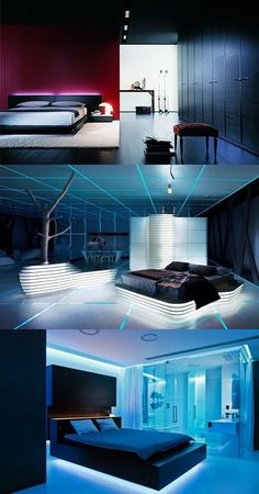 Ideas on Designing a Futuristic Bedroom - http://interiordesign4.com/ideas-on-designing-a-futuristic-bedroom/