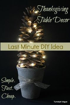 Thanksgiving Table Decor - Last Minute DIY Idea - www.turnstylevogue