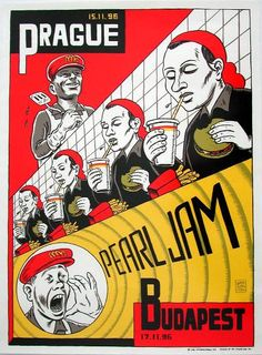 Ward Sutton. Rock Posters. Pearl Jam.