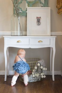 Rocky Raccoon nursery art, floral crown animal collection by artist Stephie Jones. Featured on Being Brickner. Love this entryway! Art Floral, Floral Crown, Rocky Raccoon, Nursery Art, Entryway Tables, Giveaway, Fine Art Prints, Animal, Artist