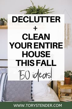 Declutter Bedroom, Declutter Your Home, Organize Your Life, Organizing Your Home, Organizing Tips, Organising, Fall Cleaning Checklist, House Cleaning Tips, Cleaning Hacks