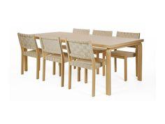 Uusi pyötäryhmäni uusilla tuoleilla <3. Pöytä 86 ja tuoli 611 by Alvar Aalto / Artek