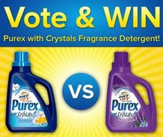 Win a FREE Bottle of Purex with Crystals Fragrance Laundry Detergent - Coupon Clipinista