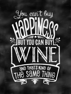 You can't buy happiness...but you CAN buy wine Art Print - Jayde