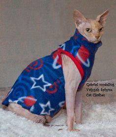 Sphynx Cat Clothes - 16 Fabrics - U Pik
