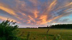 Landscape in veneto this evening