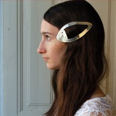 silver hair clip... i just love it