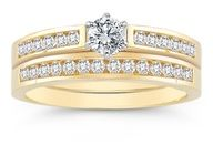 1/2 Carat #Diamond Wedding #Ring Set, 14K Yellow Gold  Retail Value: 1200.00   actual price $799.00  www.finditforweddings.com