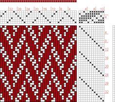 Hand Weaving Draft: 12188, 2500 Armature - Intreccio Per Tessuti Di Lana, Cotone, Rayon, Seta - Eugenio Poma, 6S, 12T - Handweaving.net Hand Weaving and Draft Archive