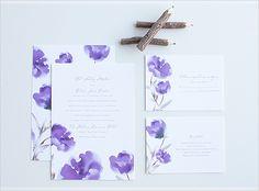 purple water color invite by @Invitations by Dawn