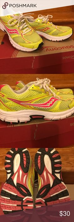 SAUCONY NEON SNEAKERS Excellent Condition. Bright colorful sneaker. Comes with original box. SAUCONY Shoes Sneakers