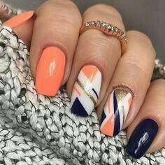 opi nail polish [TOP NAILS] 26 Best Nails for Nail Inspiration - Fav Nail Art opi nail polish Love Nails, How To Do Nails, Fun Nails, Stylish Nails, Trendy Nails, Manicure E Pedicure, Top Nail, Orange Nails, Orange Nail Art