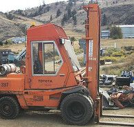 Toyota 10,000 lb. Dual Wheel Fork Lift. Propane Operated. #toyota #ForkLift #Equipment #SavonaEquipment