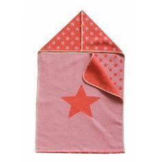 David Fussenegger Babydecke Puckdecke mit Kapuze Sternchen Stern rosa 45x76 cm - Bonuspunkte, Rechnungskauf, DHL Blitzlieferung!