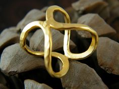 Infinity ring oval ring gold handmade ring