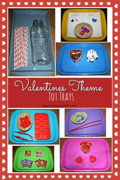 Valentines Theme Tot Trays