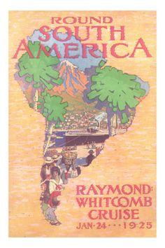 Cruising Round South America Premium Poster