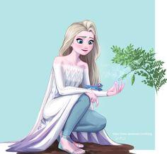Disney Princess Art, Disney Princess Pictures, Disney Fan Art, Disney Pictures, Frozen Fan Art, Frozen Pictures, Pinturas Disney, Modern Disney, Disney Frozen Elsa
