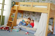 Kinder-Hochbett Massivholz Erle Noah