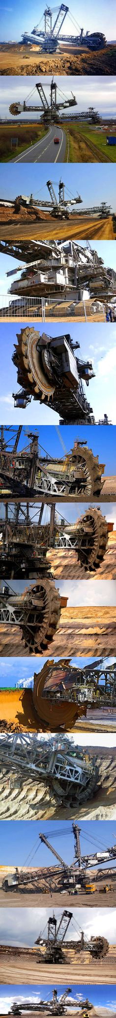 The 100 million Bagger 288 (Excavator 288), built by the German company Krupp (now ThyssenKrupp) for the energy and mining firm Rheinbraun, is a bucket-wheel excavator or mobile strip mining machine. When its construction was completed in 1978, Bagger 288 superseded NASA's Crawler-Transporter, used to carry the Space Shuttle and Apollo Saturn V launch vehicle, as the largest land vehicle in the world.