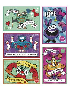 FREE Printable Valentine's Day Cards via GoNoodle.com - where physical activity and brain power intersect