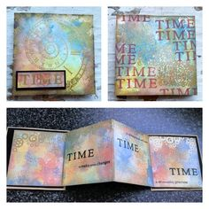 Book of Time - created by Teresa Morgan - visible image stamps - time stamps - time sentiments