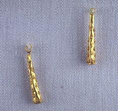 Pair of Earrings with Herakles Club 2nd Century AD Roman