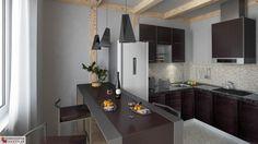 Kuchnia, ConceptHouse Mokotów, rozkład lokalu nr 133, 142, 145. Autorzy projektu: Djordje Stevanovic i Bogoljub Stankovic. Więcej na: http://www.conceptmokotow.pl/.