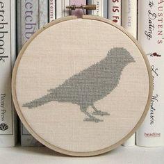 Little bird cross stitch.