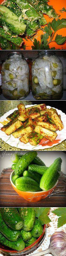 "РЕЦЕПТЫ ""НА БИС"". 9 суперских рецептов огурцов. . Jam And Jelly, Kimchi, Preserves, Pickles, Zucchini, Canning, Vegetables, Projects, Food"