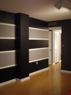 paint stripes on wall ideas | Painting stripes