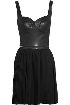 Leather and silk dress by Mackage on the Outnet <3 $412.50