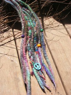 Hand dyed & Felted Wool Dread Extensions