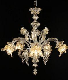 picasso lampadari murano cristallo oro