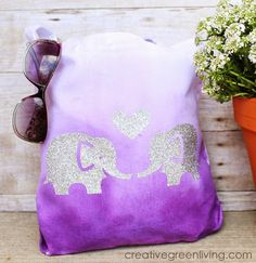 How to Make an Ombre Dyed Fabric Tote Bag ~ Creative Green Living #TieDyeYourSummer @ilove